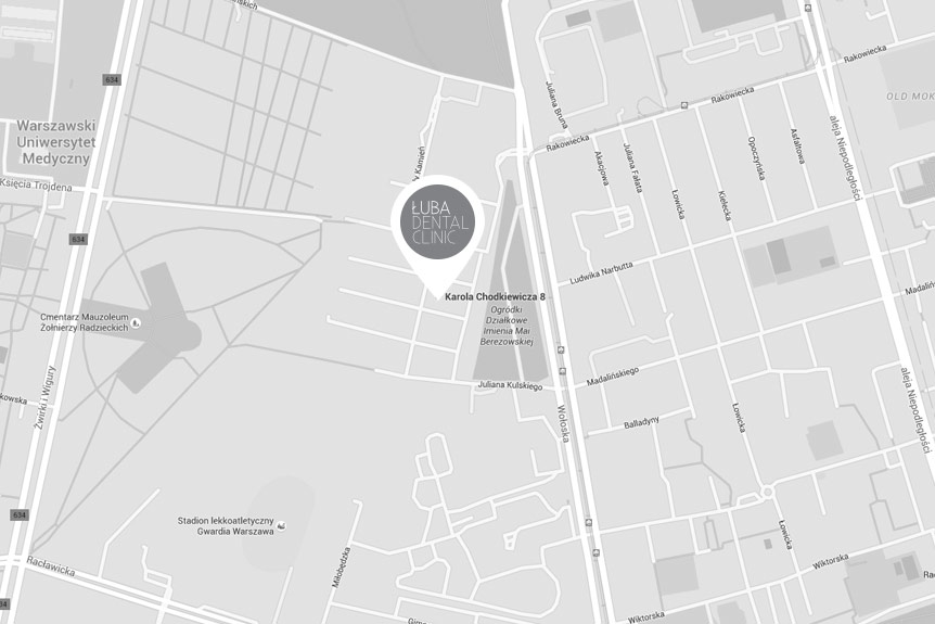 Mapa dojazdu do Łuba Dental Clinic